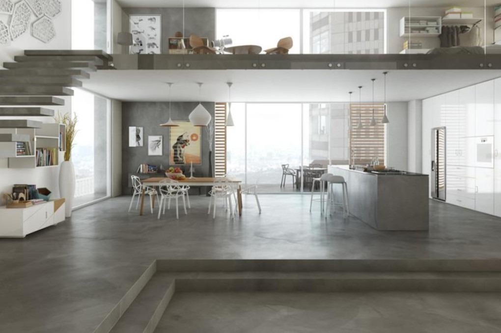 pavimento in resina cementizia microtapping leef. Black Bedroom Furniture Sets. Home Design Ideas